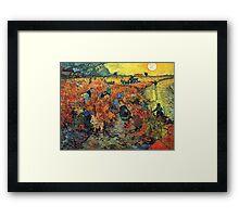 Red Vineyards by Vincent Van Gogh Framed Print