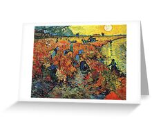 Red Vineyards by Vincent Van Gogh Greeting Card