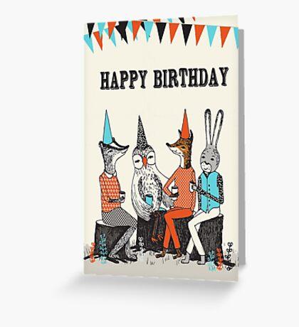 Happy Birthday - Garden Party  Greeting Card