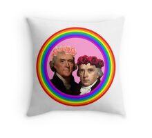 Thomas Jefferson x James Madison Throw Pillow