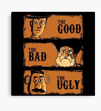 The Good The Bad the potato Canvas Print