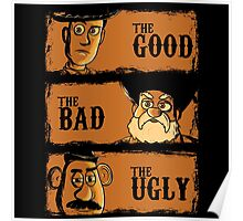 The Good The Bad the potato Poster
