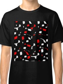 Simple black, red and white design Classic T-Shirt