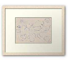 0607 - A Bird catching a Fly Framed Print
