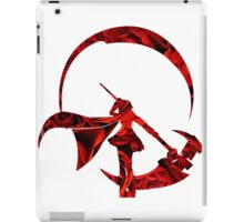 RWBY Ruby Rose Silhouette with Roses iPad Case/Skin
