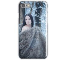 glamour portrait in the winter iPhone Case/Skin