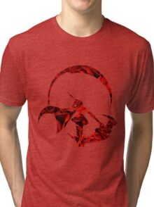 RWBY Ruby Rose Silhouette with Roses Tri-blend T-Shirt