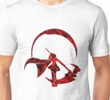 RWBY Ruby Rose Silhouette with Roses Unisex T-Shirt
