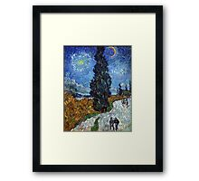 Country Road in Province by Vincent Van Gogh Framed Print