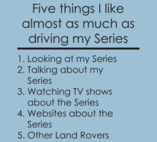 5 Things I Like - Series One Piece - Short Sleeve