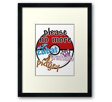 Please no more Zubat & Rattata & Pidgey Framed Print