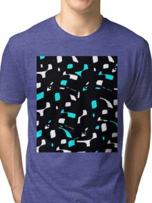 Simple black, blue and white design Tri-blend T-Shirt