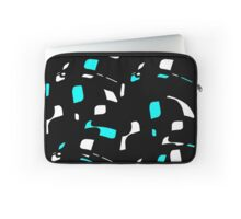 Simple black, blue and white design Laptop Sleeve