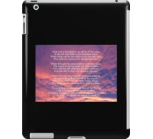 How Firm A Foundation (Verses 1, 4, 5 and 6) iPad Case/Skin