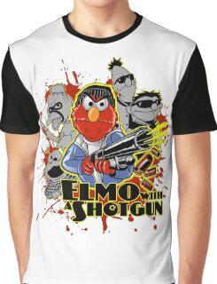 Elmo With Shotgun Graphic T-Shirt