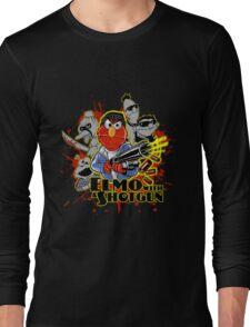 Elmo With Shotgun Long Sleeve T-Shirt