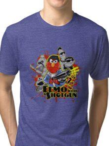 Elmo With Shotgun Tri-blend T-Shirt
