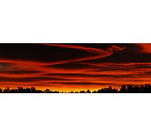 Red Sunrise Photographic Print