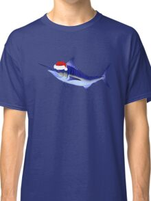 Blue Marlin In Christmas Mood Classic T-Shirt
