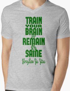 BJJ Brazilian Jiu Jitsu - Train your brain Mens V-Neck T-Shirt