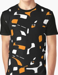 Simple black, orange and white design Graphic T-Shirt