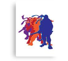 Teenage Mutant Ninja Silhouettes Canvas Print