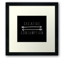 Creative Consumption B&W Framed Print
