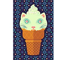Strawberry-Mint Cat Photographic Print