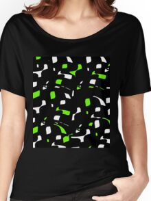 Simple black, green and white design Women's Relaxed Fit T-Shirt