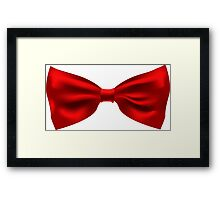 The bow tie. Framed Print