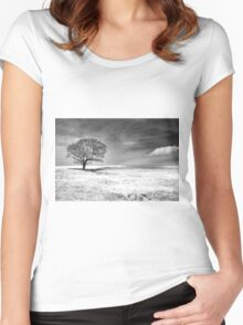Between Earth And Sky Women's Fitted Scoop T-Shirt