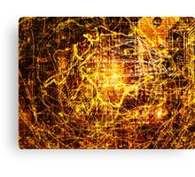 Conspiracy Background in Yellow Canvas Print