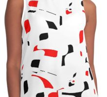 Simple black, red and white design Contrast Tank