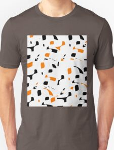 Simple black, orange and white design Unisex T-Shirt