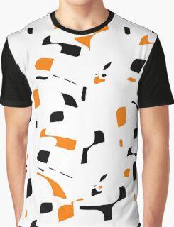Simple black, orange and white design Graphic T-Shirt