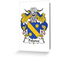 Polanco Coat of Arms/Family Crest Greeting Card