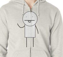 KIDCOM character (basic edition) Zipped Hoodie