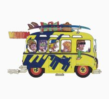 VW Camper. Surfs Up Dude. One Piece - Long Sleeve