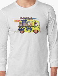 VW Camper. Surfs Up Dude. Long Sleeve T-Shirt