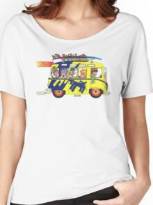VW Camper. Surfs Up Dude. Women's Relaxed Fit T-Shirt
