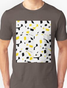 Simple black, yellow and white design Unisex T-Shirt