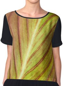 Abstract Leaf Chiffon Top