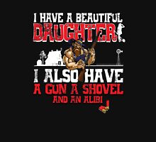 Hillbilly - I Have A Beautiful Daughter Black Distressed Variant Womens Fitted T-Shirt