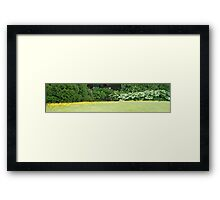 Composition in greens and yellow Framed Print