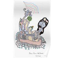 Kali Visits the Ocean Poster