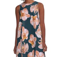 Orchid Flowers A-Line Dress