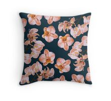 Orchid Flowers Throw Pillow