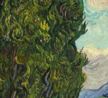 Trees by Vincent Van Gogh Sticker