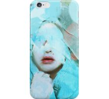 The abstract woman and the painting of fear iPhone Case/Skin