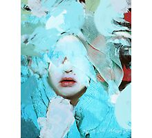 The abstract woman and the painting of fear Photographic Print